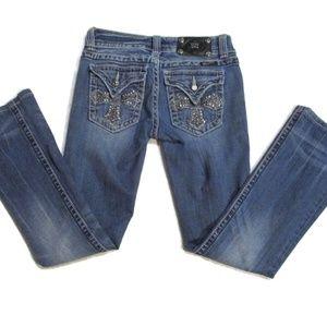 Miss Me Embellished Crop Bootcut Jeans 26